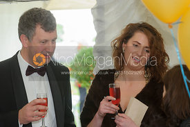 Guests at the Cottesmore Hunt Farmers' Ball 2013, Burley House.