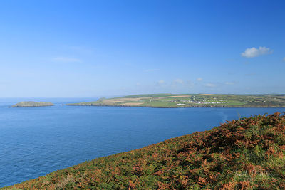 Looking over the Teifi, Cardigan Island & Gwbert from Cemaes Headt