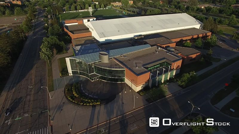 Drone Video of Michigan State University at East Lansing. Clara Bell Smith Center and Practice fileds