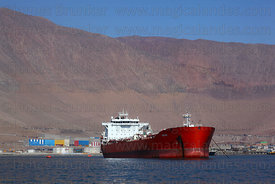 "Oil tanker ""Abtao"" moored off desert coast near Iquique , Region I , Chile"