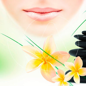 zen and spa lips flowers