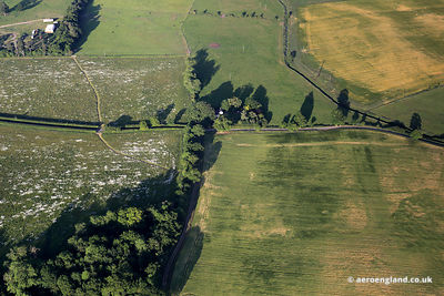 aerial photograph of Saham Toney Roman Fort Norfolk.