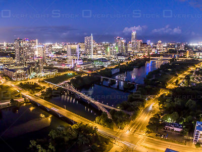 Lamar Blvd and Colorado River Bridges Austin Texas USA