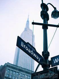 Broadway et Empire State Building