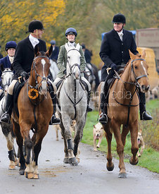 The Cottesmore Hunt in Owston.