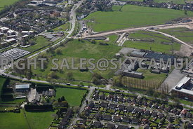 Manchester aerial photograph  of the old Ferranti Electronics factory Simonsway Manchester Airport Wythenshaw