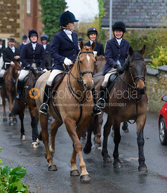 Viscountess Grimston at the meet - The Cottesmore at Knossington 22/11