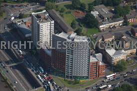 Birmingham aerial photographs of Student apartments St Lawrence Close Belgrave Middleway Bristol Road