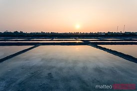 Salt fields at sunrise, Doc Let, Nha Trang, Vietnam