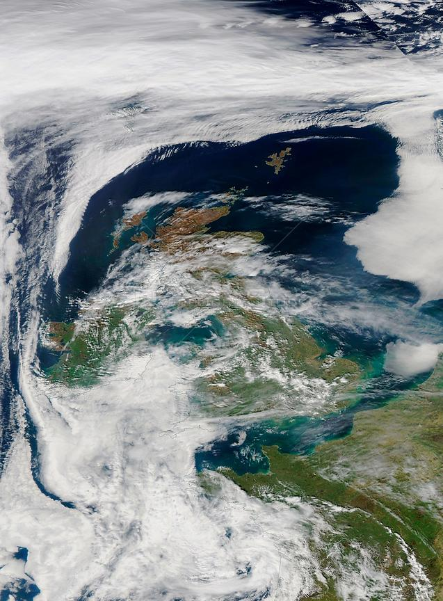 EARTH Western Europe -- 10 Apr 2015 -- This NASA MODIS satellite image from 10 Apr 2015 (latest available from the Terra and Aqua sensors) showing a build up of air pollution over south-eastern England and other parts of Europe