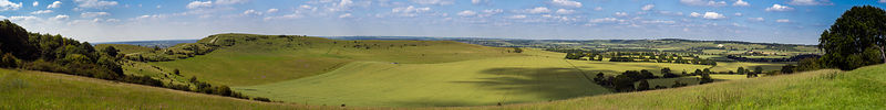 Ivinghoe Beacon and Whipsnade panorama