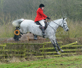Richard Hunnisett jumping a hedge at Town Park Farm