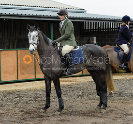 Alice Pegley at the meet - The Cottesmore Hunt at Ranksboro, 26-11-13.