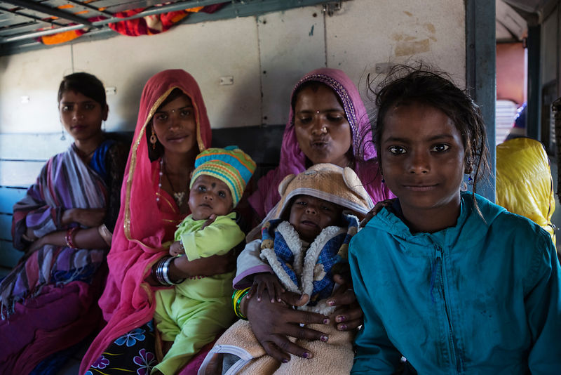 Women and Children on the Train from Phulad to the High Hills of the Aravalis