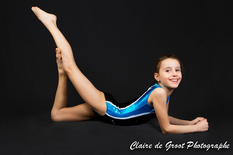A young gymnast