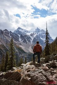 Hiker, Valley of the Ten Peaks, Banff National Park, Canada