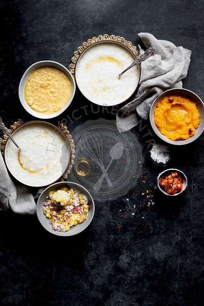 Indian comfort food - boiled rice, mashed pumpkin and potato, boiled lentil and 7-minutes egg.