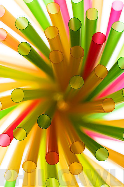 Abstract Drinking Straws