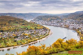Rhine gorge and town of Boppard, Rhineland-Palatinate, Germany