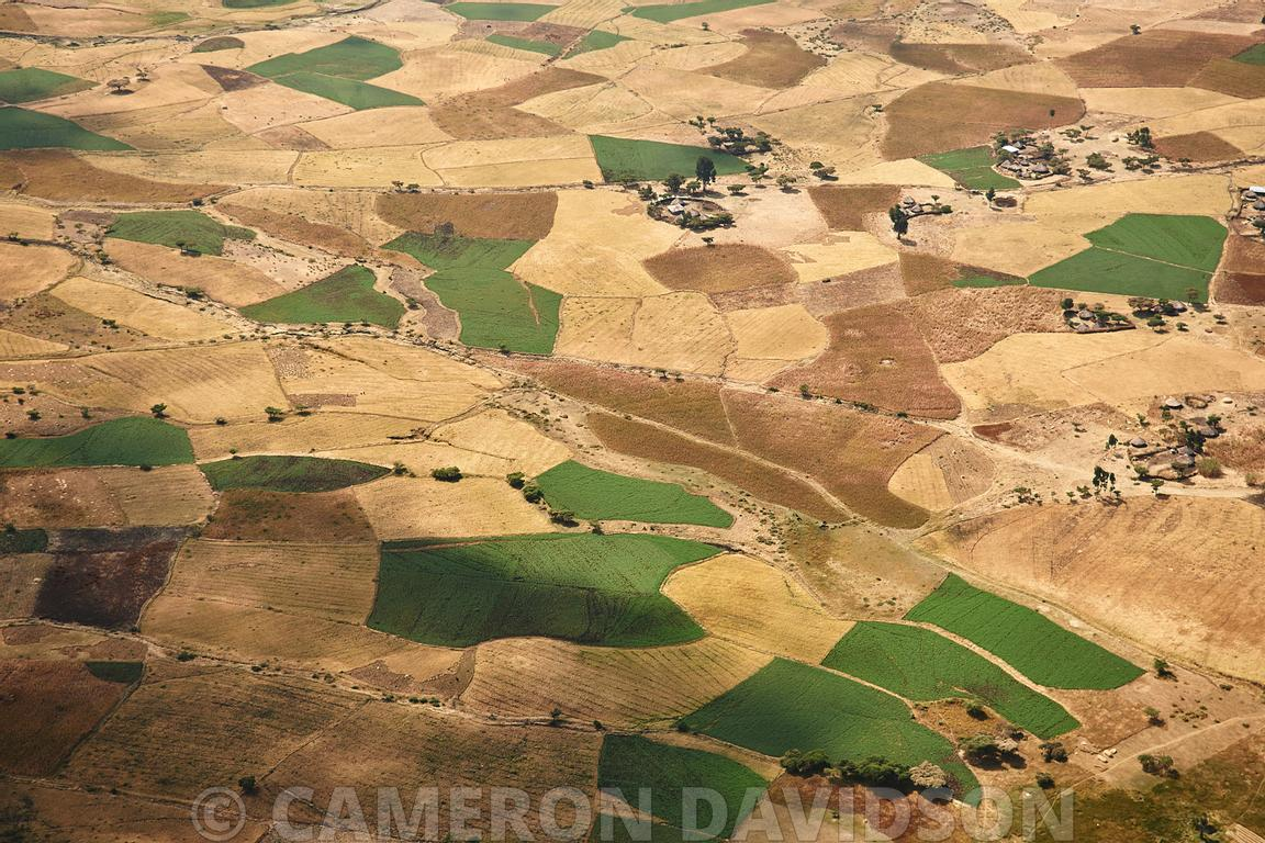 Aerial, Ethiopia, Agricultural Fields.