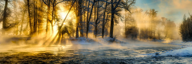 Gallatin River Winter Sunrise