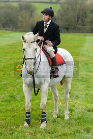 Martin Harley at the meet - The Cottesmore Hunt at Manor Farm