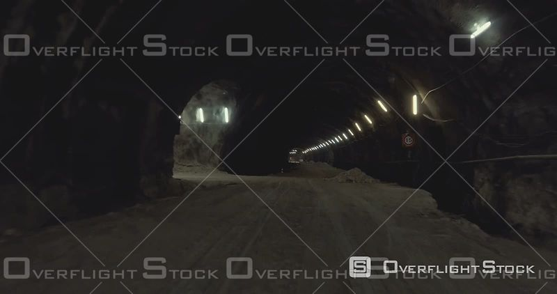 TimeLapse of Flight Through New Higway Tunnel Construction Israel