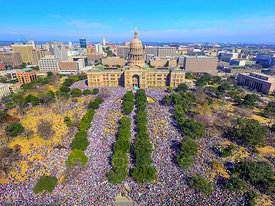 Capitol Builidng Womens March Protest Austin Texas