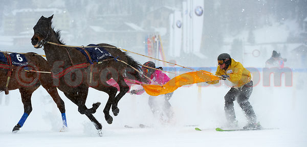 Leo Luminati mit GALLARDO AM White Turf 2011 in St.Moritz