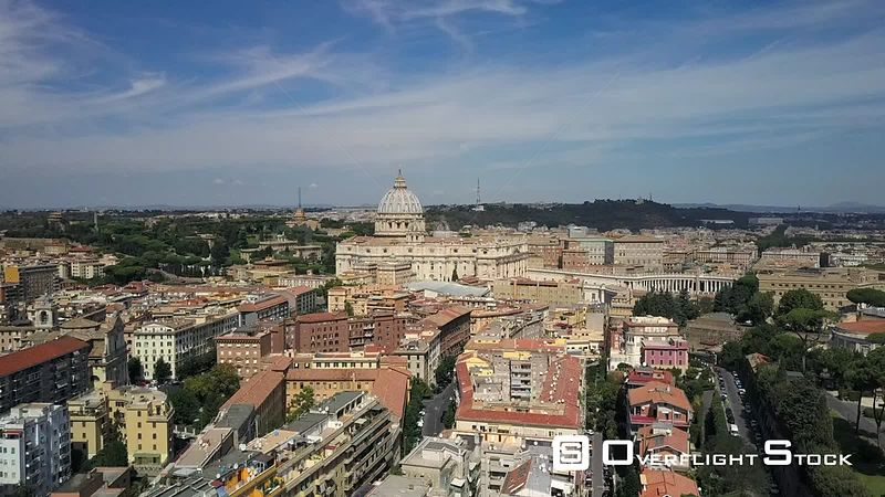 St. Peter's Basilica Drone Video Vatican City Rome Italy