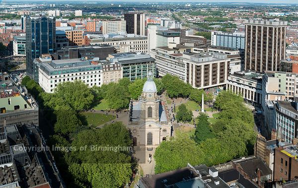 ST. PHILLIPS CATHEDRAL, BIRMINGHAM, WEST MIDLANDS, ENGLAND.