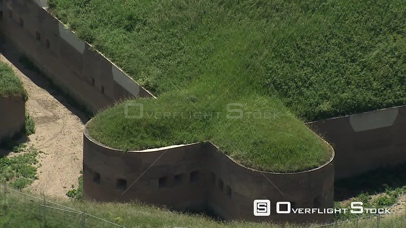 Zoomout and orbit of Fort Pannerden, The Netherlands