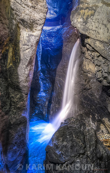 Waterfall inside the cave - Lauterbrunnen