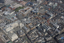 Liverpool City Centre aerial photograph of the area surrounding Tithebarn Street Moorfields and Exchange Stations and Dale Street