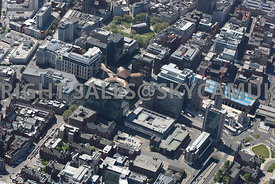 Birmingham aerial photograph of Snow Hill and Queensway and Whitall Street Printing House Street