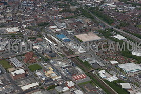 Bolton aerial photograph of the area of Thynne Street Coe Street Lever Street St Marks Street Nelson Street and Bolton Railway Station
