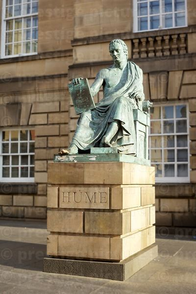 Statue of Philosopher David Hume in High Street Edinburgh