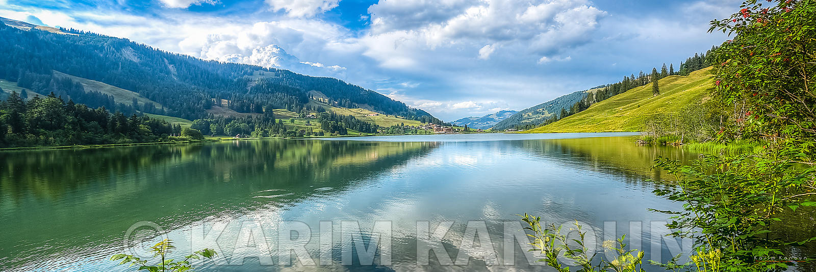 Panorama - Lake Reflection - schwarzsee
