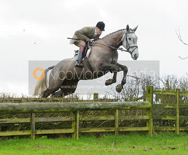 Ollie Finnegan jumping a hunt jump at Baggrave Hall