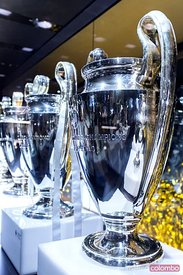 Champion league cups, Santiago Bernabeu stadium, Madrid