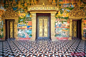 Entrance to a temple in Luang Prabang, Laos