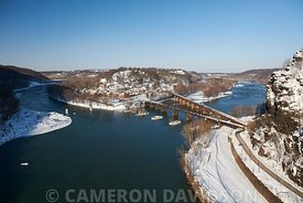 Aerial photo of Harper's Ferry, West Virginia