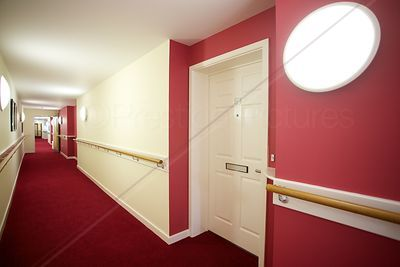 Vibrant Colours in Retirement Flats Corridor