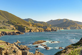 Rocky Creek Bridge and Pacific Coast Highway near Big Sur in California, USA.