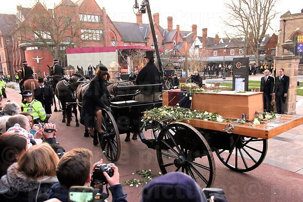 Richard III Reburial Cortege - Arrival at Leicester Cathedral Richard III Reburial - s