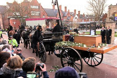 The Richard III Funeral Carriage Standing outside Leicester Cathedral