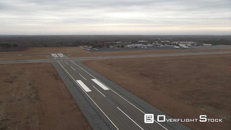 Airport on Martha's Vineyard, Massachusetts. Shot in November