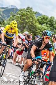 Richie Porte and Chris Froome Climbing Alpe D'Huez