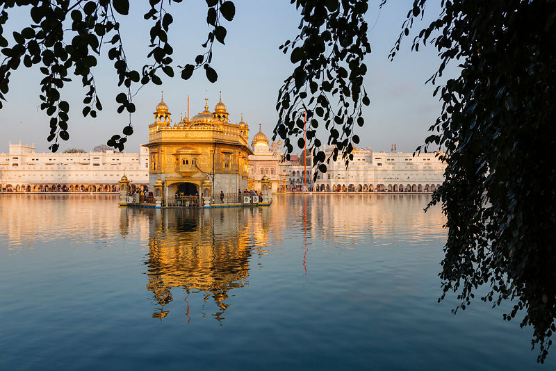 The Golden Temple at Sunrise