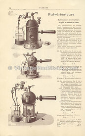 Medical Illustration of an Antiseptic Sprayers